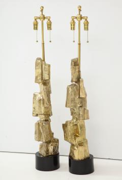 Laurel Lamp Company Pair Brutalist Lamps by Maurizio Tempestini  - 1154954