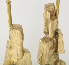 Laurel Lamp Company Pair Brutalist Lamps by Maurizio Tempestini  - 1154956