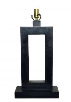 Laurel Lamp Company Pair of American Modern Rubbed Bronze Table Lamps Laurel Lamp Company - 687909