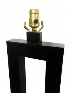 Laurel Lamp Company Pair of American Modern Rubbed Bronze Table Lamps Laurel Lamp Company - 687923