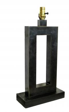 Laurel Lamp Company Pair of American Modern Rubbed Bronze Table Lamps Laurel Lamp Company - 687959