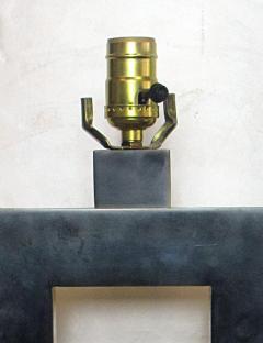 Laurel Lamp Company Pair of American Modern Rubbed Bronze Table Lamps Laurel Lamp Company - 687961