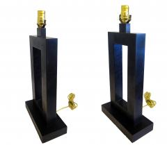 Laurel Lamp Company Pair of American Modern Rubbed Bronze Table Lamps Laurel Lamp Company - 687973