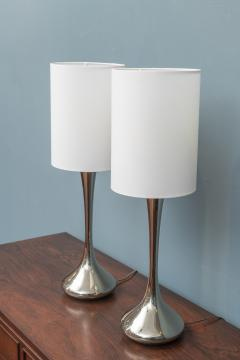 Laurel Lamp Company Pair of Chrome Table Lamps by Laurel - 1709297