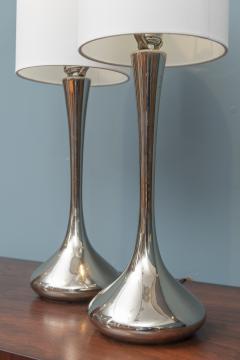Laurel Lamp Company Pair of Chrome Table Lamps by Laurel - 1709301