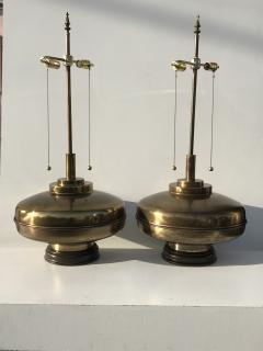 Laurel Lamp Company Pair of Large Scale Antiqued Bronze Lamps - 530834
