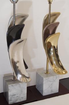 Laurel Lamp Company Pair of Sculptural Laurel Table Lamps - 137005