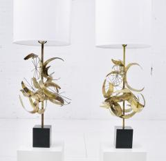 Laurel Lamp Company Sculptural Brass Table Lamps by Laurel - 1566786