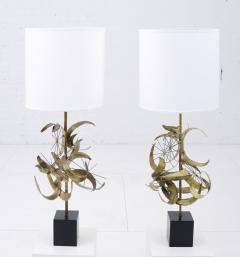 Laurel Lamp Company Sculptural Brass Table Lamps by Laurel - 1566791