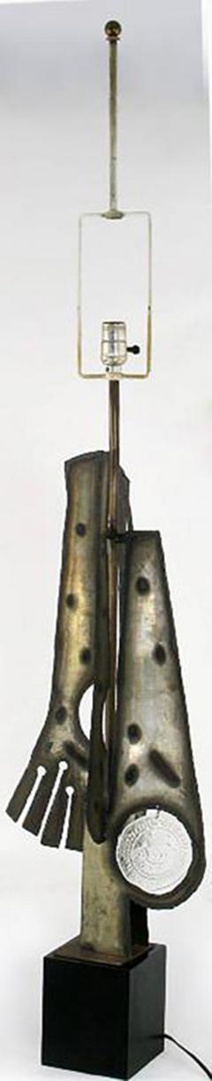 Laurel Lamp Company Substantial Tall Brutalist Metal Sculpture Lamp by Laurel - 277044