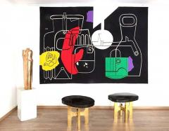 Le Corbusier 1950s Rare tapestry by Le Corbusier Still Life handwoven in Aubusson France - 2130025