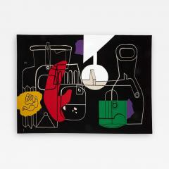 Le Corbusier 1950s Rare tapestry by Le Corbusier Still Life handwoven in Aubusson France - 2131715