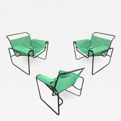 Le Corbusier Jeanneret Perriand Le Corbusier for Thonet rare set of 3 interpreted outside lounge chairs - 1008538