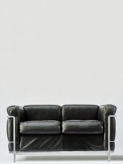Le Corbusier Jeanneret Perriand Pair of LC2 Two Seats Sofas by Le Corbusier edited by Cassina - 1690240