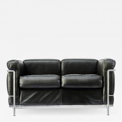 Le Corbusier Jeanneret Perriand Pair of LC2 Two Seats Sofas by Le Corbusier edited by Cassina - 1693020
