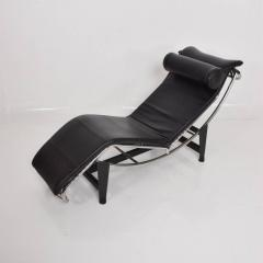 Le Corbusier Le Corbusier Lounge Chair Mid Century Modern Black Leather    565072