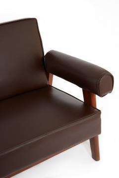 Le Corbusier Rare Advocate Sofa by Le Corbusier and Pierre Jeanneret PJ SI 42 B  - 1137476