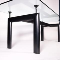 Le Corbusier Table Le Corbusier Cassina Glass Metal 1980s - 2094682