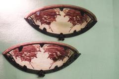 Le Verre Francais Le Verre Francais Cameo Glass Pair of Sconces - 1541814