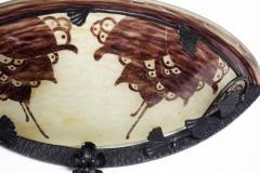 Le Verre Francais Le Verre Francais Cameo Glass Pair of Sconces - 1541834