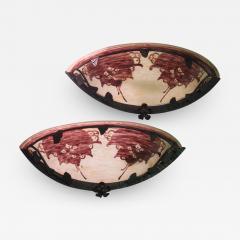 Le Verre Francais Le Verre Francais Cameo Glass Pair of Sconces - 1543640