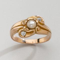 Lebolt Co LeBolt Gold Diamond Pearl Ring - 291895