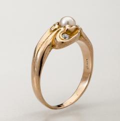 Lebolt Co LeBolt Gold Diamond Pearl Ring - 291897