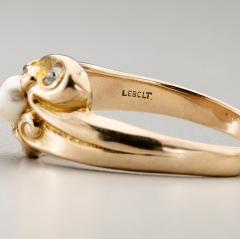 Lebolt Co LeBolt Gold Diamond Pearl Ring - 291898