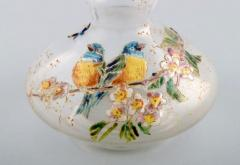 Legras Legras France Carafe with hand painted enamel decoration - 1321801