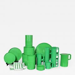 Lella Massimo Vignelli Heller dinnerware by lella massimo vignelli in kelly green 58 pieces napkins - 1683416