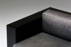 Lella Massimo Vignelli Saratoga sofa in elephant grey leather by Vignelli for Poltronova 1964 - 2019216