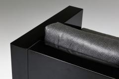 Lella Massimo Vignelli Saratoga sofa in elephant grey leather by Vignelli for Poltronova 1964 - 2019218