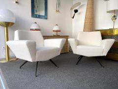 Lenzi Pair of Armchairs M538 by Studio APA for Lenzi Italy 1960s - 2129527