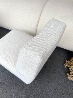 Lenzi Pair of Slipper Chairs Boucl Fabric by Studio APA for Lenzi Italy 1960s - 2128291