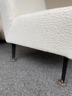 Lenzi Pair of Slipper Chairs Boucl Fabric by Studio APA for Lenzi Italy 1960s - 2128296