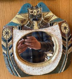 Les Argonautes Ceramic Mirror France 1960s - 1973714