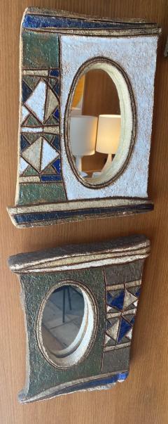 Les Argonautes Ceramic Mirror France 1960s - 2078698