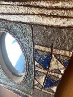 Les Argonautes Ceramic Mirror France 1960s - 2078700