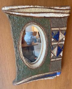 Les Argonautes Ceramic Mirror France 1960s - 2078702