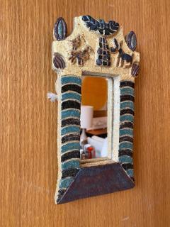 Les Argonautes Ceramic Mirror France 1960s - 2126809