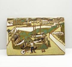 Les Argonautes Ceramic Panel France Vallauris 1960s - 2130739