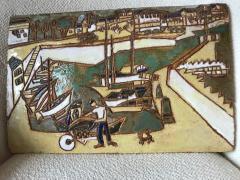 Les Argonautes Ceramic Panel France Vallauris 1960s - 2130741