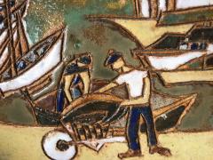 Les Argonautes Ceramic Panel France Vallauris 1960s - 2130743