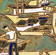 Les Argonautes Ceramic Panel France Vallauris 1960s - 2130745