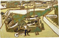Les Argonautes Ceramic Panel France Vallauris 1960s - 2131768