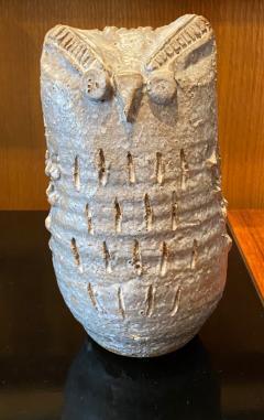 Les Argonautes Owl ceramic sculpture - 1969262