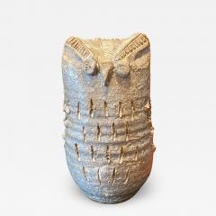 Les Argonautes Owl ceramic sculpture - 1970860