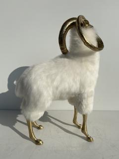 Les Lalanne Brass Mountain Sheep or Ram Sculpture - 1275677