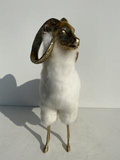 Les Lalanne Brass Mountain Sheep or Ram Sculpture - 1275679