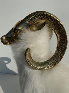 Les Lalanne Brass Mountain Sheep or Ram Sculpture - 1275682